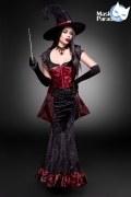 Karneval Halloween Damen Kostüm Hexe Dark Witch