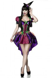 Karneval Halloween Damen Kostüm Set Sexy Hexe