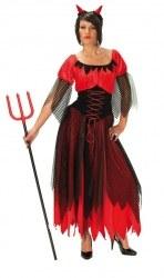 Karneval Halloween Damen Kostüm TEUFELIN