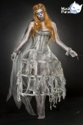 Karneval Halloween Damen Kostüm Zombie Braut