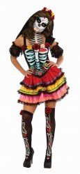 Karneval Halloween Damenkostüm Day of the Dead Seniora