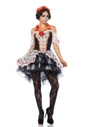 Karneval Halloween Damenkostüm Lovely Calavera