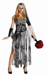 Karneval Halloween Damen Kostüm Zombiebraut