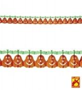 Karneval Halloween Dekoration Girlande Kürbis