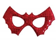 Karneval Halloween Fledermaus-Kindermaske mit Pailletten rot
