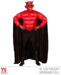 Karneval Halloween Herren Kostüm Muskel Teufel