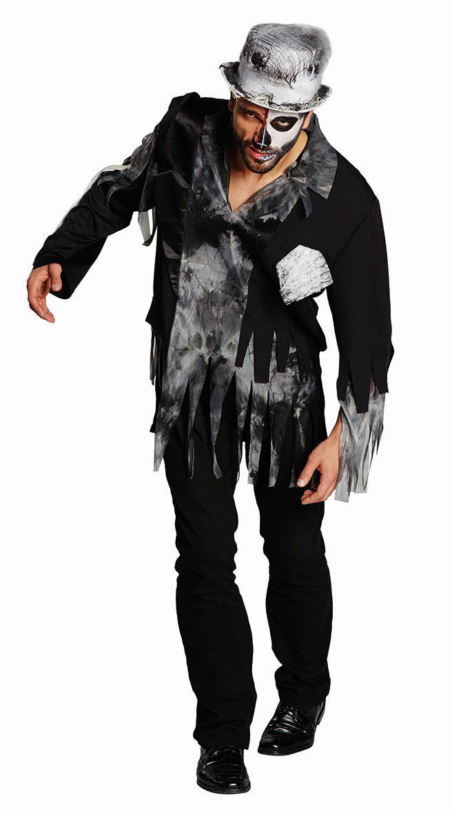 karneval halloween herren kost m oberteil zombiebr utigam. Black Bedroom Furniture Sets. Home Design Ideas