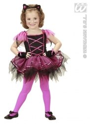 Karneval Halloween Mädchen Kostüm BALLERINA KATZE