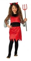 Karneval Halloween Mädchen Kostüm KLEINE TEUFELIN