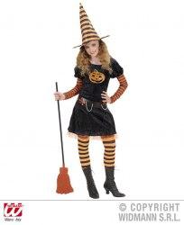 Karneval Halloween Mädchen Kostüm Kürbis Hexe