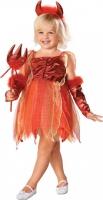 Karneval Halloween Mädchen Kostüm Teufel LIL DEVIL