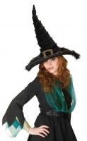 Karneval Halloween Samt Hut HEXE