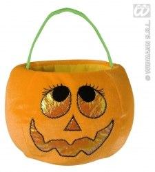 Karneval Halloween Samt Tasche KÜRBIS