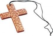 Karneval Halsband Kette Kreuz braun