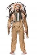 Karneval Herren Kostüm Indianer Native