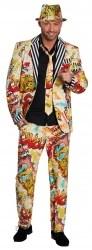 Karneval Herren Kostüm Grafitti-Anzug