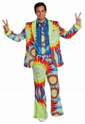 Karneval Herren Kostüm Hippie Anzug mit Schlaghose