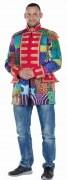 Karneval Herren Kostüm Jacke Multipatch