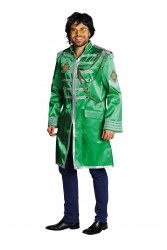 Karneval Herren Kostüm Sergeant Pepper Jacke grün