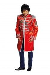Karneval Herren Kostüm Sergeant Pepper Jacke rot