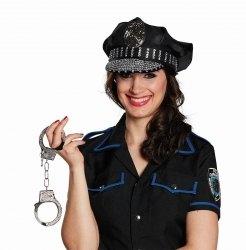 Karneval Hut Polizeimütze Strass
