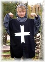 Karneval Jungen Kostüm Silberner Edel-Ritter