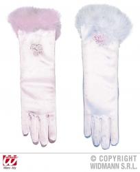 Karneval Kinder Handschuhe lang Farbwahl