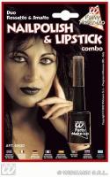 Karneval Kombi-Nagellack mit Lippenstift