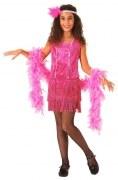 Karneval Mädchen Kostüm Charleston pink