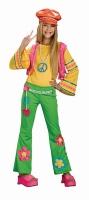Karneval Mädchen Kostüm Hippie Flower Power