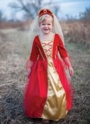 Karneval Mädchen Kostüm Königin rot