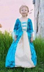 Karneval Mädchen Kostüm Königin türkis