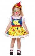 Karneval Mädchen Kostüm Mini Clown Girl