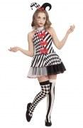 Karneval Mädchen Kostüm Miss Harlekin
