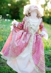 Karneval Mädchen Kostüm Königin Renaissance rosa-gold