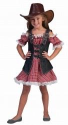 Karneval Mädchen Kostüm Western Denim Ranger