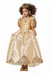 Karneval Mädchen Kostüm Königin gold