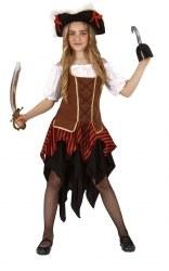 Mortino Karneval Mädchen Kostüm Piratin
