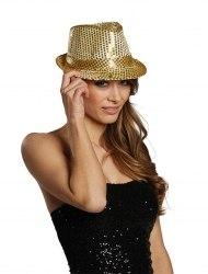 Karneval Pailletten-Hut mit Blinklicht Farbwahl