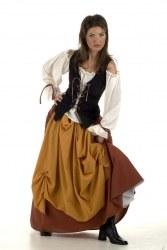 Limit Karneval Damen Kostüm Mittelalter Bäuerin