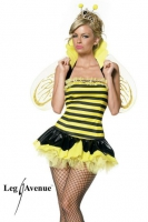 Leg Avenue Damen Kostüm Biene QUEEN BUMBLE BEE