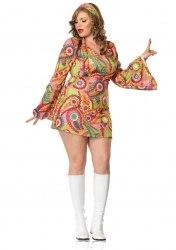 Leg Avenue Damen Kostüm HIPPIE CHICK XXL