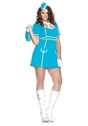 Leg Avenue Damen Kostüm Stewardess Classic 1X-2X
