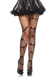 Leg Avenue Damen Strumpfhose Vampir Fledermaus Netz