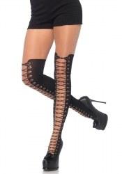 Leg Avenue Damen Strumpfhose mit Stiefeldruck