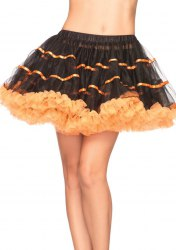 Leg Avenue Damen Tüll Petticoat zweifarbig Farbwahl