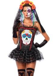 Leg Avenue Halloween Damen Corsage Sugar Skull