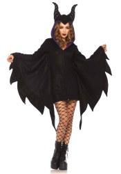 Karneval Halloween Damen Kostüm Zauberin Cozy Maleficient