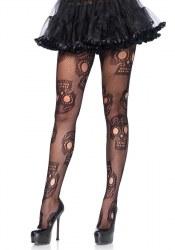 Leg Avenue Halloween Damen Netz Strumpfhose XL Sugar Skull