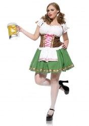 Leg Avenue Karneval Damen Kostüm Dirndl Gretchen XXL
